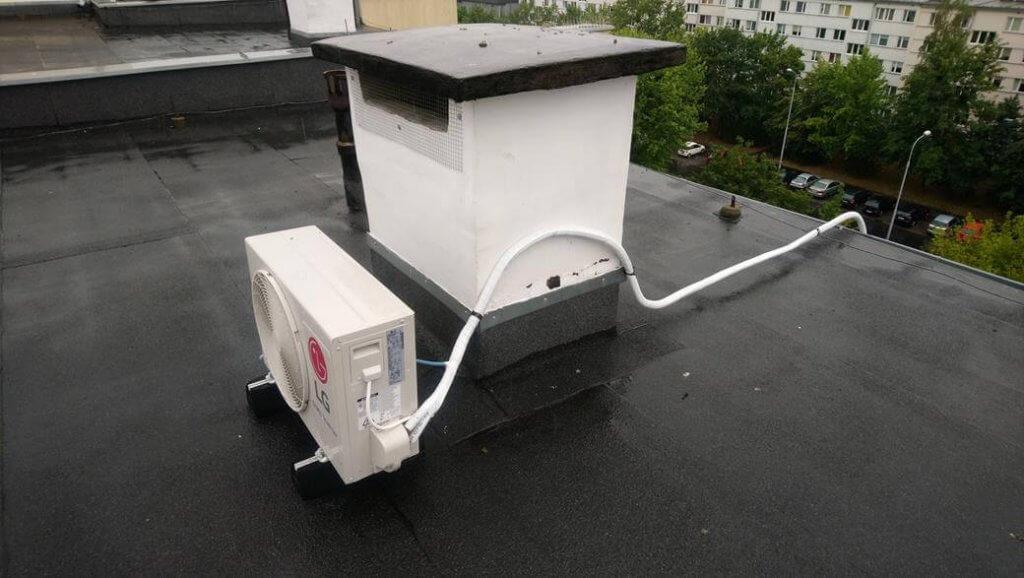 Montaż jednostki zewnętrznej klimatyzacji LG